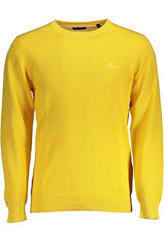 GANT Cotton Pique Crew amarillo XL