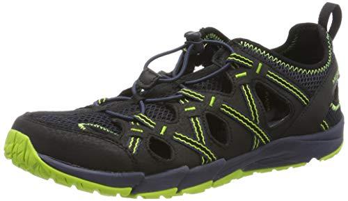 Merrell Unisex-Kinder M-hydro Choprock Shandal Sport Sandalen, Schwarz (Black/Navy/Lime), 30 EU
