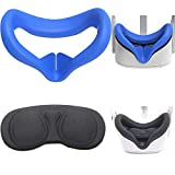Feicuan Cubierta Facial de Silicona VR y Cubierta de Lente VR para Oculus Quest 2, Cubierta Protectora Antipolvo y Antiarañazos, Almohadillas Faciales Accesorios,Virtual Reality Headset Accessories