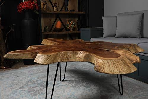 ner Madera Desing raíz de Teca de Madera Mesa de Centro Personalizado diseño con Opciones de Color y tamaño 140 * 100 * 6 cm