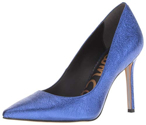 Sam Edelman Women's Hazel Pump, Royal Blue/Metallic Leather, 9 M US