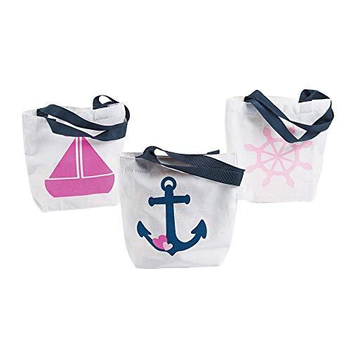 Mini Nautical Girl Tote Bags (12 count)