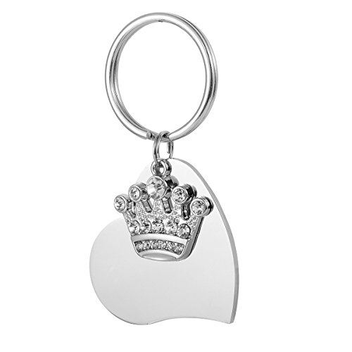 Valyria Stainless Steel Pet Tags for Dog and Cat ID Tags with Personalized Engraving,Diamond Crown