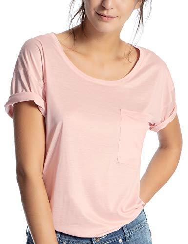 Calida Damen I Love Nature T-Shirt, Rosa (Peach Rose 220), 44 (Herstellergröße: M)