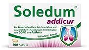 Soledum Addicur Kapseln wirken entzündungshemmend und schleimlösend und eignen sich für die Zusatzbehandlung bei Erkrankungen der Atemwege Wirkt mit der Kraft der Natur: Enthalten ist 100% reines Cineol in konzentrierter Form - ein natürlicher und gu...