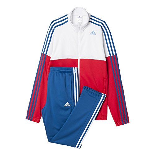 adidas Herren Trainingsanzug TS Train KN, Rot/Weiß/Blau, 10