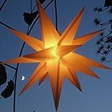 Mit LED-Leuchtmittel (auswechselbar) Außenstern Adventsstern gelb - beleuchteter Stern 55-60 cm...
