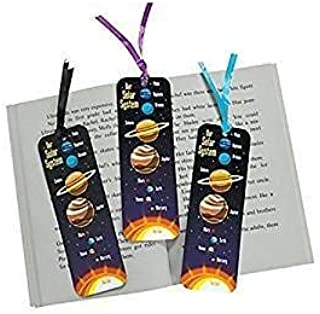 2 Dozen (24) Laminated SOLAR SYSTEM Bookmarks - OUTER SPACE Party Favors - GALAXY - SCIENCE Outer SPACE Teacher CLASSROOM Giveaways INCENTIVE