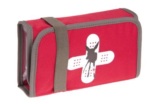 LÄSSIG Erste-Hilfe-Set für Arzneimittel Gobuli Pflaster Netztasche mit Reißverschluss Halterung aus Gummiband ohne Inhalt First-Aid-Kit, Red Deer