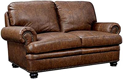 Amazon.com: Furniture of America Valencia Chocolate Brown ...