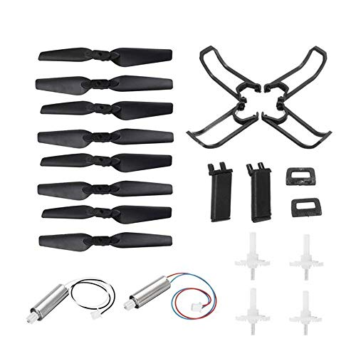 Drone accessories Compatible with Eachine E58 RC Drone Parts Crash Pack Kits Propeller Blade Set Propeller Guards Protectors (Color : Black, Size : One size)
