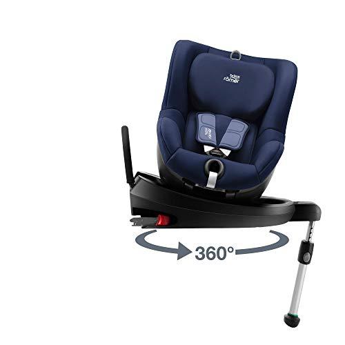 Britax Römer Silla de coche Nacimiento - 18kg | DUaFIX2 R | Isofix Grupo 0+/1 | Moonlight Blue