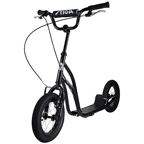 Stiga Unisex-Youth STR Air 12 Zoll Kickscooter, Black