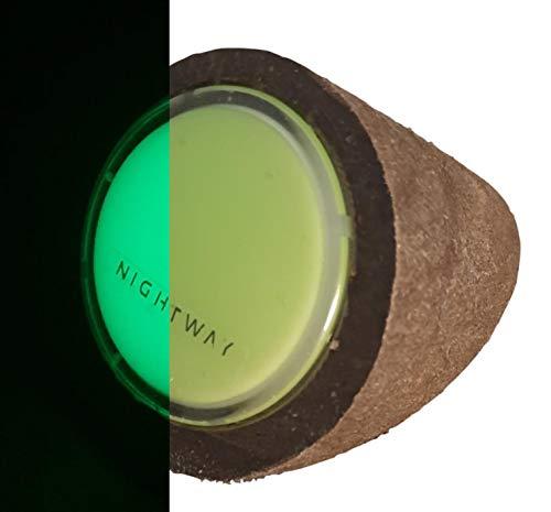 NIGHTWAY Log UFL. Pieza formada por una Base de plástico Reciclado (Apariencia de Madera), y una Placa ultrafotoluminiscente para decoración terraza | decoración jardín