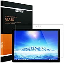 MEGOO Screen Protector for Surface Pro 3, Tempered Glass, HD Clear/Anti-Scratch/Friendly Touching Screen - Designed for Microsoft Surface Pro 3 (12 inch)