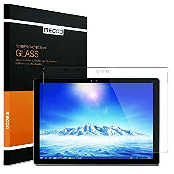 Megoo Screen Protector for Surface Pro 3 Tempered Glass HD Clear/Scratch resistant/Friendly Touching Screen - Designed for Microsoft Surface Pro 3  12 inch