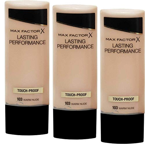 3 x Max Factor Lasting Performance Grundierung 35ml - 103 Warm Nude
