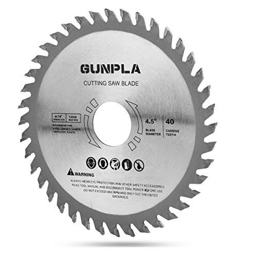Gunpla Pro Kreissägeblatt Optiline Wood 115 mm x 22.23 mm x 40T zum Sägen in Holz für Handkreissägen Hartmetall Sägeblatt
