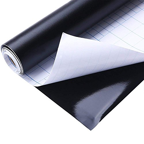 Afneembaar Krijtbord, Blackboard Krijtbord Muursticker Inpakpapier Muur 450 x 2000 mm voor Thuisschool & Kantoor