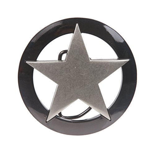 Famous Marshall Law Texas Star Belt Buckle, Antique Silver