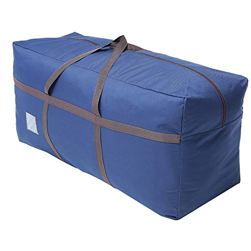 """Large Blue Duffel Storage Bag - Premium-Quality Heavy Duty 600D Polyester Oxford Cloth with Handles and Reinforced Seams - 45"""" x 16"""" x 22"""" Inches (114 x 40 x 55 Centimeters)"""