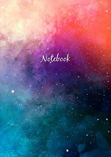 Libreta De Puntos: A4 Cuaderno Dot Grid Para Bullet Journaling, Lettering, Art Notes | Journal De Punteados | 110 Páginas Con Cuadrícula De Punto | Soft Cover Galaxia