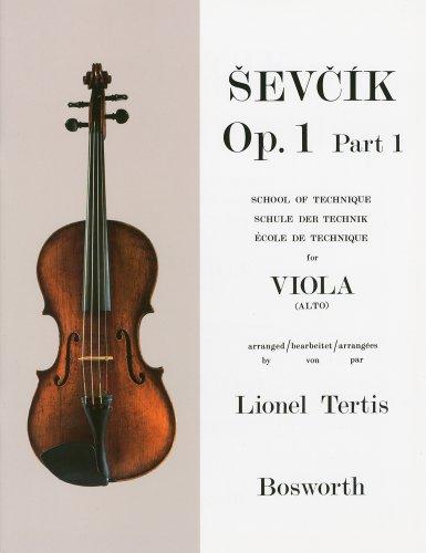 シェフチーク(セヴシック): ビオラ技法教本 Op.1 パート 1/ボスワース社