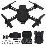 Drone con cámara, Mini Drone Plegable 4K WiFi FPV Altitude Hold Quadcopter Control Remoto Drone para Adultos Principiantes Formato de Video JPG MP4 o AVI(Cámara única)
