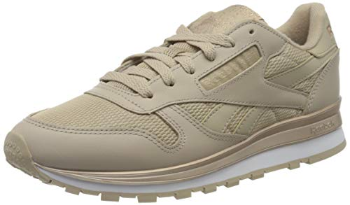 Reebok Womens CL LTHR Gymnastics Shoe, Modern Beige/Pantalone/White, 39 EU