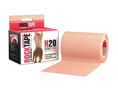 Rocktape, 10cm x 32m, Beige, Therapie-Tape für Muskel-Unterstützung und Gelenkstabilität, Kinesiologie-Tape zur Behandlung von Muskelkater und gemeinsamen Sportverletzungen, Biomechanische Wrap