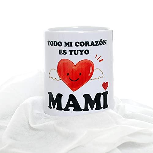 RDAB Taza Original de Desayuno y Idea Regalo para el día la Madre Cumpleaños Mama Todo mi Corazón es Tuyo