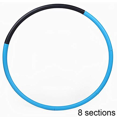 Hui Jin abnehmbarer Hula-Hoop-Reifen, Schaumstoff, gepolstert, für Gewichtsverlust, Fitness, Boxen, Kampfsport und Crossfit, 8 Abschnitte