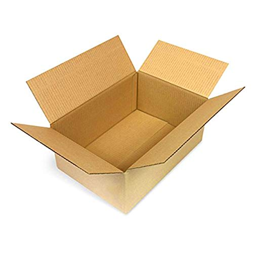 100 Faltkartons 345x235x140mm braun KK 70 1 wellig rechteckige Versandkartons | DHL M Päckchen | DPD S | GLS S | H S Paket | stabile Versandkartons