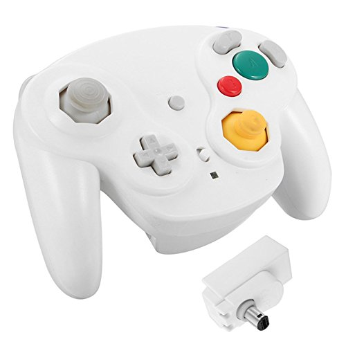 LEEBA - Mando inalámbrico para Nintendo Gamecube NGC Wii Blanco Blanco