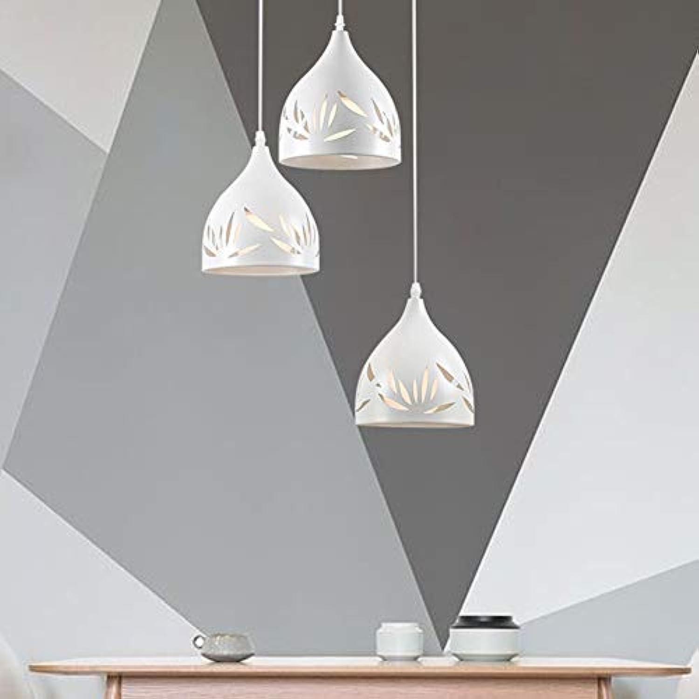 SXFYWYM Pendellicht Moderne Aushhlen Elegante 3 Kpfe Kronleuchter für Esszimmer Wohnzimmer Licht,Weiß,200x170mm