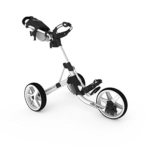 Clicgear Model 3.5+ | 3-Wheel Golf Push Cart (Arctic/White)