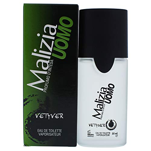 Vetyver Malizia Uomo Eau de Toilette Spray for Men, 1.7 Ounce
