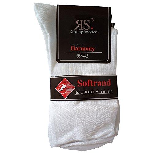 Unbekannt 6 Paar Socken Pia Harmony RS Baumwolle ohne Naht (39-42, Weiß)