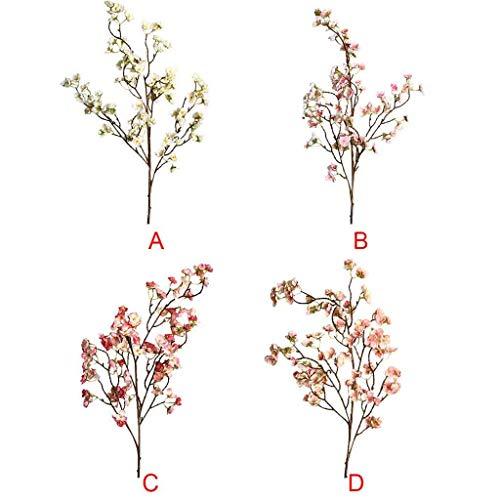 Deng Xuna Kunstblumen Cherry Blossom Kirschblüte Künstliche Blumen Plastikblumen Kunstpflanze für Balkon Garten Außenbereich Zuhause Büro Vase Hochzeit Party Dekoration Blumendekor, 97 cm (A) - 5