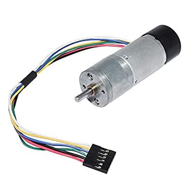 Encoder Metal Gearmotor 12V DC High Speed 130RPM Gear Motor with Encoder for Arduino and 3D Printers