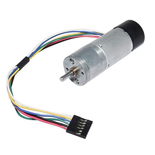 Encoder Metal Gearmotor 12V DC High Speed 300RPM Gear Motor with Encoder for Arduino and 3D Printers