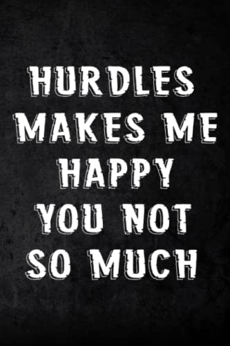 Address Book Hurdles Makes Me Happy Funny Hurdler Graphic: Address and Phone Number for Seniors - Log book to Record Addresses, Phone Numbers, Emails, Birthdays and Notes,