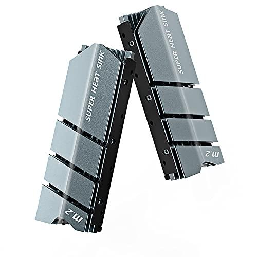 AMPCOM Enfriador del disipador de calor M.2, NVMe M.2 2280 SSD disipador de calor de aluminio de alto rendimiento con almohadillas térmicas - 10℃-30℃ efecto de enfriamiento