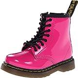 Dr. Martens Brooklee, Boots mixte bébé - Rose (Hot Pink Patent Lamper) - 22 EU