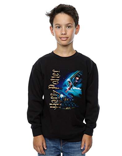 Harry Potter Jungen Smiles at Hogwarts Sweatshirt Schwarz 9-11 Years