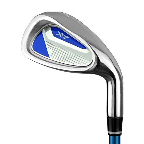 YBWEN Golf Wedge Kinder Golf Putter Rod 7 Golfschläger mit gutem Gummigriff für Mädchen Jungen 3-5 Jahre alt, 6-8 Jahre alt, 9-12 Jahre Golfschlägerset (Farbe : 9-12Age-blue, Größe : Carbon Rod)