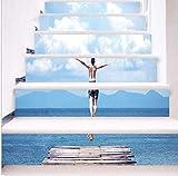 Einfache kreative 3D Treppe Aufkleber Tauchen Teenager renoviert Treppe Aufkleber selbstklebende...
