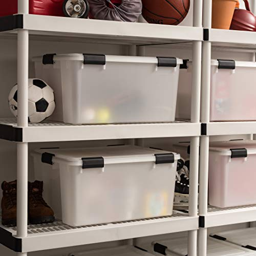 IRIS USA UCB-LD WEATHERTIGHT Storage Box, 4 Pack, 62.8 Quart, Clear