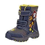Josmo Paw Patrol Boy's Snow Boots with Easy Straps Closure (7 Toddler, Navy)'