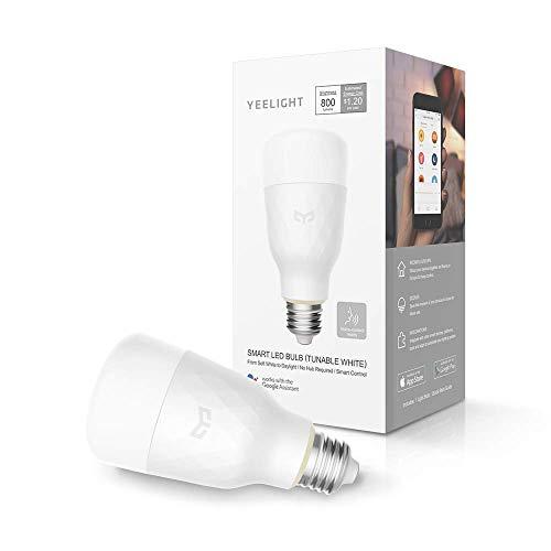 YEELIGHT Lemon Smart LED Ampoule WiFi 10W E27 800lm Pas d'ampoule d'éclairage sur concentrateur Compatible avec Alexa, Google Assistant (TUNABLE BLANC)